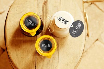 新疆珍天源纯红花籽油LOGO设计